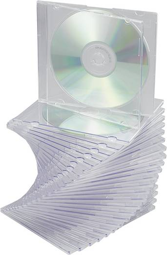 Slim CD tok 25 db Átlátszó 1 CD