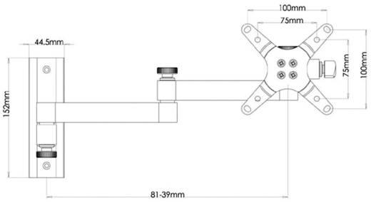 Teleszkópos TFT/LCD fali tartó, 33-76 cm-es (13 - 30) fekete