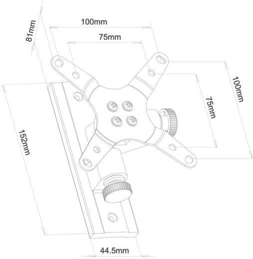 Fali monitor tartó, dönthető/forgatható, 25,4-61 cm (10 - 24) fekete