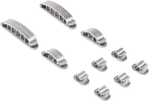 Kábelrögzítők, ezüst színű, 10 db, Hama Easy Clip