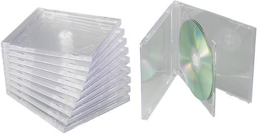 Dupla CD, DVD lemez tok, 2 lemez számára, átlátszó 775387