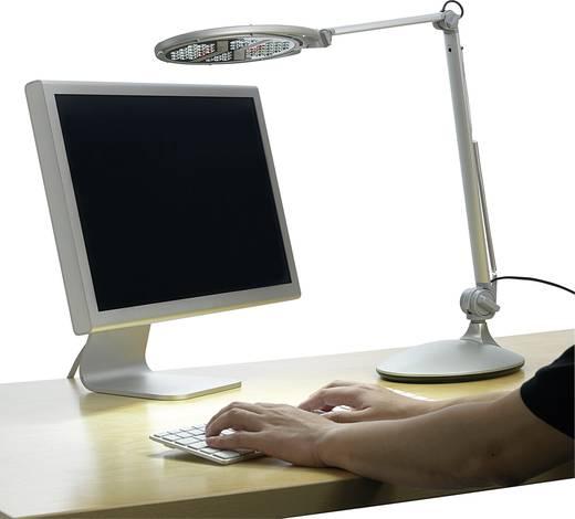 LED-es asztali lámpa 50 LED-del, fémes ezüst színű, 5 W, L750