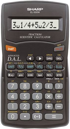 Iskolai számológép, EL-500 W Sharp EL500W