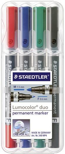 Szövegkiemelő Lumocolor Duo permanent, 4 részes készlet