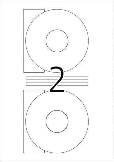 CD/DVD címke fehér standard 50db