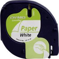 DYMO feliratozószalag LetraTag, 12mm, fehér/fekete, papír, S0721520 (S0721520) DYMO