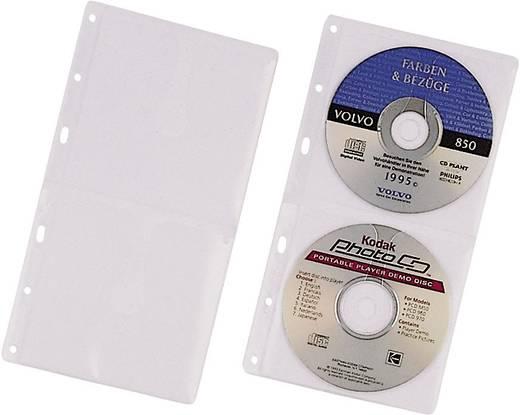 Lefűzhető CD/DVD/Blu Ray tok, tasak 5db-os készlet, 2 lemez részére, átlátszó Durable 5203-19