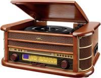 Asztali retro rádió, digitalizáló retro lemezjátszó, MP3 CD lejátszóval, magnókazetta digitalizálóval Dual NR 4 (72946) Dual