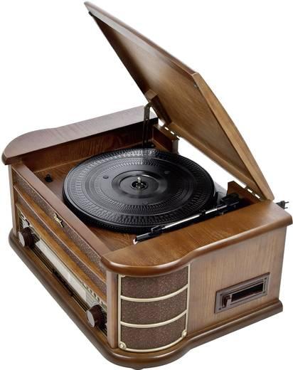 Asztali retro rádió, digitalizáló retro lemezjátszó, MP3 CD lejátszóval, magnókazetta digitalizálóval Dual NR 4