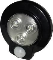 LED-es polc alá szerelhető lámpa mozgásérzékelővel, fekete, kerek, Müller Licht 57013 Müller Licht