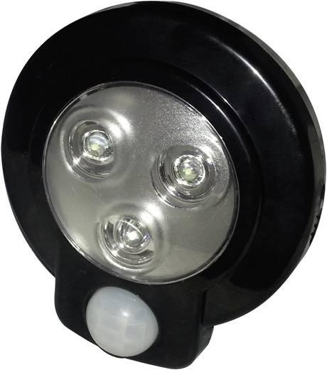 LED-es polc alá szerelhető lámpa mozgásérzékelővel, fekete, kerek, Müller Licht 57013