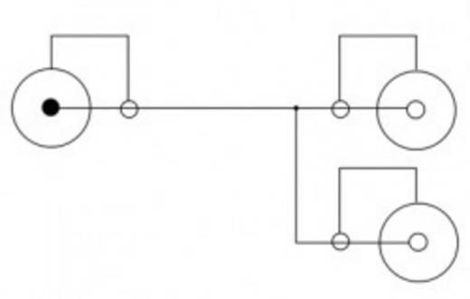 RCA audio csatlakozókábel, 1x RCA dugó - 2x RCA alj, 0,2 m, fekete, Delock