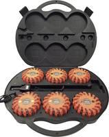 Akkus vészvillogó készlet 12/24/230V-os töltés, Li-Ion 600mAh, 6 db, Profi Power (2420004) Profi Power