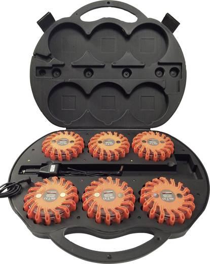 Akkus vészvillogó készlet 12/24/230V-os töltés, Li-Ion 600mAh, 6 db, Profi Power