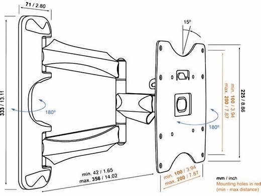 """TV fali tartó konzol, kihajtható, dönthető, forgatható VESA szabvány 48-94 cm (19""""-37"""") Vogel's Base 45 S"""