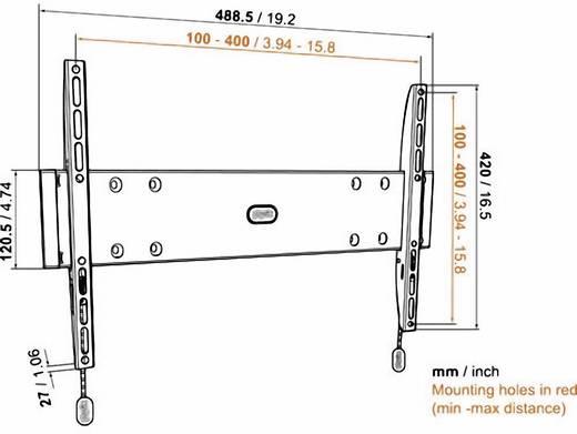 "TV fali tartó konzol, fix, VESA szabvány 81-140 cm (32""-55"") Vogel's Base 05 M 8343205"
