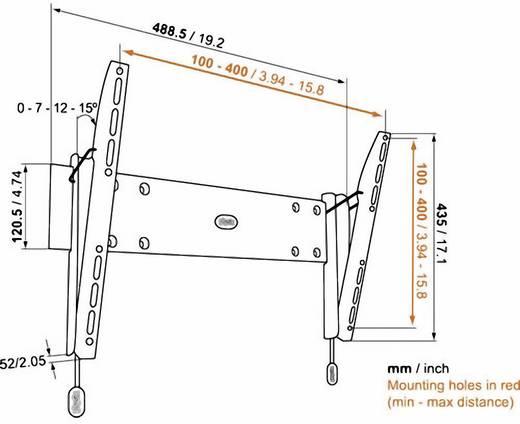 """TV fali tartó konzol, dönthető VESA szabvány 81-140 cm (32""""-55"""") Vogel's Base 15 M 8343215"""