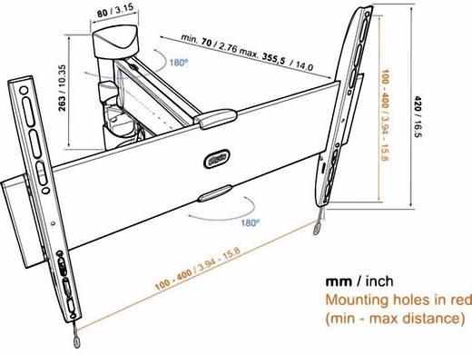 """TV fali tartó konzol, kihajtható, dönthető VESA szabvány 81-140 cm (32""""-55"""") Vogel's Base 25 M 8343225"""