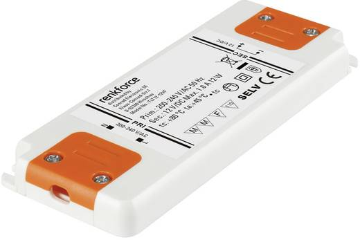 LED meghajtó 12 W 12 V/DC 1000 mA, Renkforce