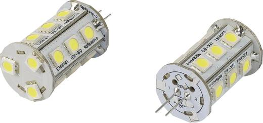 LED izzó G4 2.4 W = 15 W, Hidegfehér, 42 mm, Renkforce
