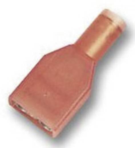 Laposérintkezős dugó, 6,3 mm / 0,8 mm 180°, teljesen szigetelt, piros TE Connectivity 2-520103-2