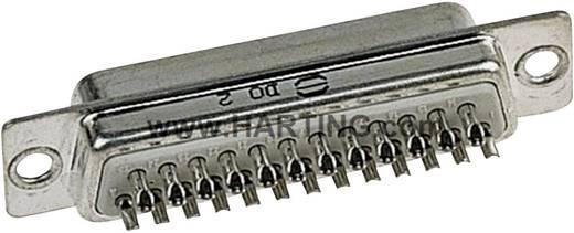 D-SUB tűs kapocsléc 180 ° pólusszám: 37 Harting 09 67 237 5604 1 db