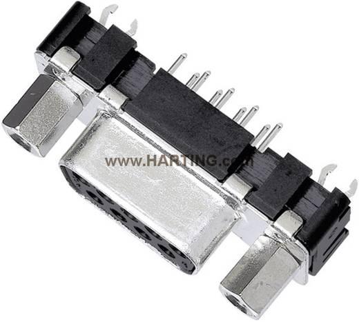 D-SUB hüvelyes kapocsléc 180 ° pólusszám: 9 Forrasztható Harting 09 66 151 6512 1 db