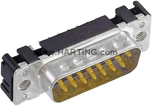 D-SUB tűs kapocsléc 180 ° pólusszám: 37 Forrasztható Harting 09 65 461 6712 1 db