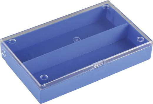 2 részes alkatrésztároló doboz, átlátszó/színes, 164 x 101 x 31 mm