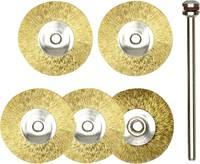 Kerek formájú réz csiszoló korong készlet, 5 db-os, drót korong, kefe Ø 22 mm/nyél Ø 2,35 mm, Proxxon Micromot 28 962 (28 962) Proxxon Micromot