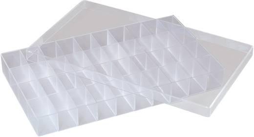 40 részes univerzális alkatrésztároló doboz, 358 x 210 x 43 mm