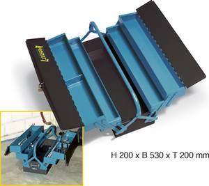 Fém szerszámosláda, üres, 530 x 200 x 200 mm, Hazet 190L Hazet