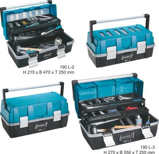 Műanyag szerszámosláda, üres, 550 x 250 x 270 mm, Hazet 190L-3