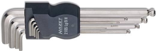 Derékszögű gömbfejű imbuszkulcs készlet, Hazet 2105ALG/10H