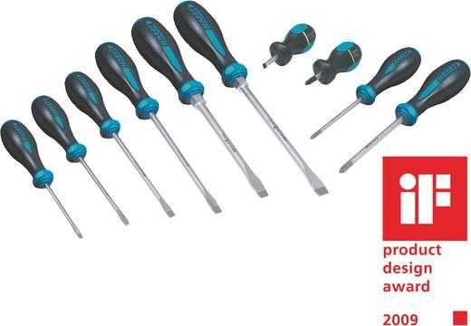 Csavarhúzó készlet, egyenes/kereszt, 10 részes, Hazet HexAnamic 802/10