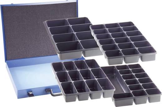 18 részes alkatrésztároló doboz, 330 x 230 x 50 mm