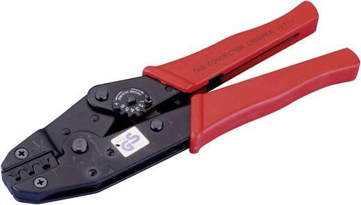 Racsnis krimpelő fogó szigeteletlen csúszósarukhoz 0,5 - 1,5 mm², 1,1 - 2,5 mm², 4 - 6 mm²-ig