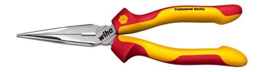 VDE laposfogó félgömbölyű csőrrel, vágóéllel, egyenes, 200 mm, Wiha Professional electric 26727
