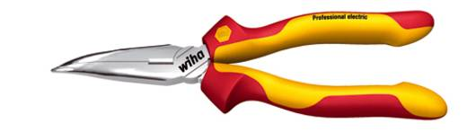 VDE laposfogó félgömbölyű csőrrel, vágóéllel, hajlított, 160 mm, Wiha Professional electric 26728