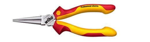 VDE kerekcsőrű fogó extra hosszú csőrrel, 160 mm, Wiha Professional electric 26735