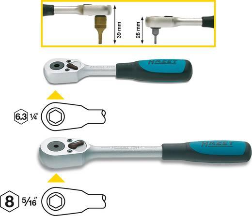 Átkapcsolható racsnis kar, 6,3 mm (1/4) 115 mm, Hazet 2264
