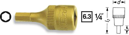 Hatlapú csavarhúzófej belső hatszögű csavarokhoz 4 mm, belső négyszög 6,3 mm (1/4), Hazet 8501-4