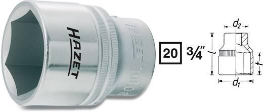 Hatlapú dugókulcsfej 46 mm, belső négyszög 20 mm (3/4), Hazet 1000-46