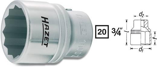 Kettős hatlapú dugókulcsfej 36 mm, belső négyszög 20 mm (3/4), Hazet 1000Z-36