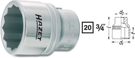 Kettős hatlapú dugókulcsfej 50 mm, belső négyszög 20 mm (3/4), Hazet 1000Z-50