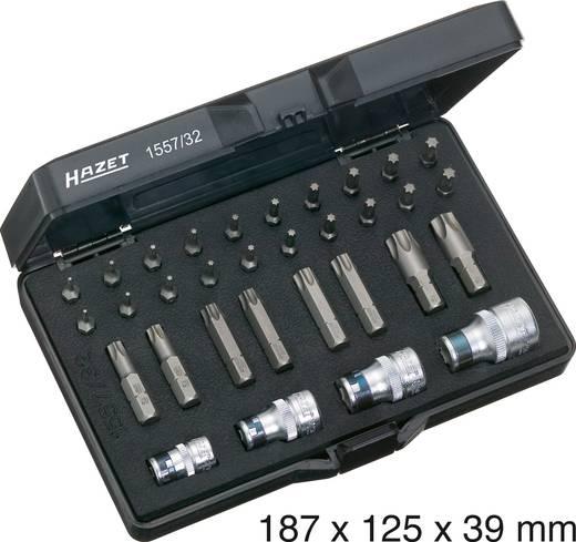 Torx dugókulcs-/csavarhúzó készlet, 32 részes, Hazet 1557/32