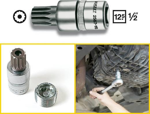 Olajleeresztő dugókulcs 16 mm, belső négyszög 12,5 mm (1/2), Hazet 2567-16
