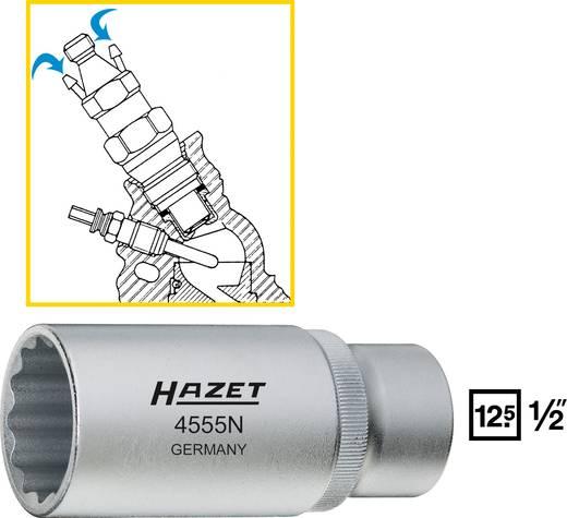 Dugókulcsfej, kettős hatlapú, belső négyszög 12,5 mm (1/2), Hazet 4555N