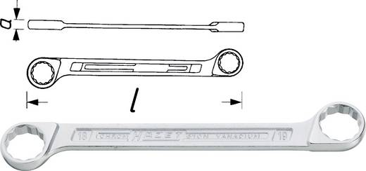Kettős csillagkulcs 18/19 mm króm-vanádium 188.6 mm hosszú ISO 10103 Hazet 610N-18X19