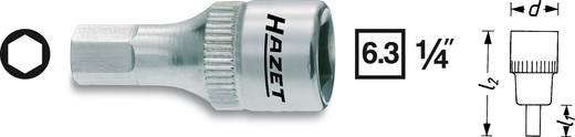 Hatlapú csavarhúzófej belső hatszögű csavarokhoz 4 mm, belső négyszög 6,3 mm (1/4), Hazet 8501X-4